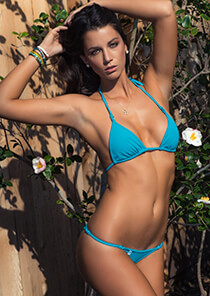 Enhanced Triangle Bikini in Vibrant Teal
