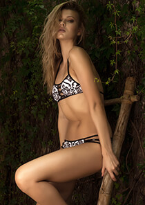 Peek-A-Boo Halter - TeenyB Original Print in Baroque 335-9990-94000
