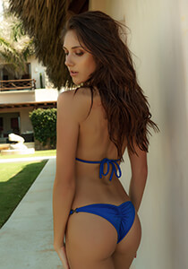 Brazilian Half Pucker Bikini Bottom in Royal Blue