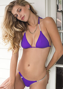 Neon Purple Enhanced Triangle Bikini Top