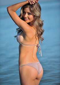 Brazilian Full Pucker Bikini Bottom in Pinkish Tan