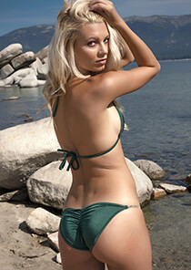 Green Bikini Bottom with Crystal
