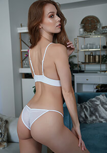 Brazilian Full Pucker Panty in White 120-5010-14500